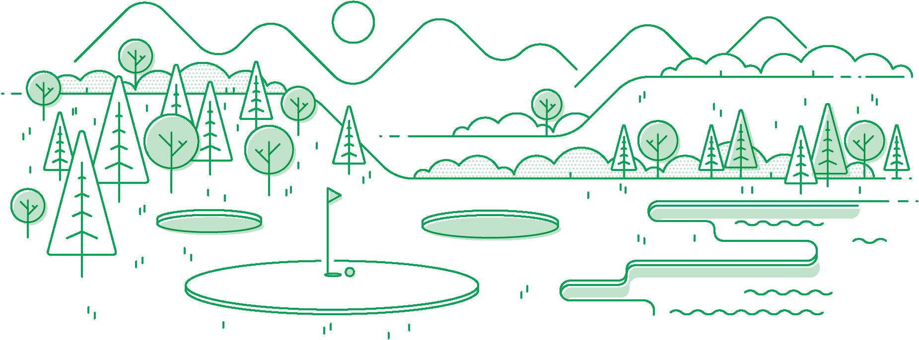 illustration of golf field